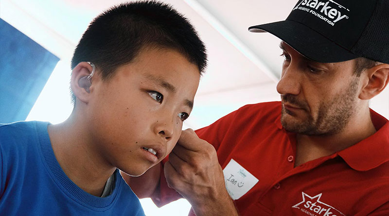 Mission Audiology Fitting Hearing Aids in China